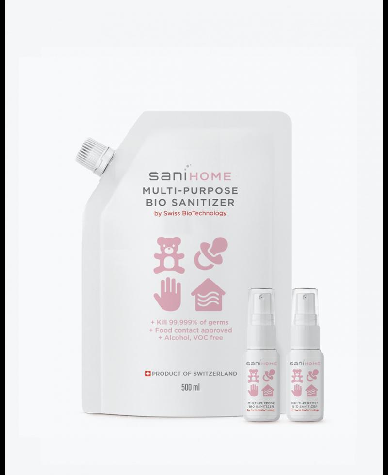 SaniHome皇牌多用途消毒噴霧 500毫升x1+15毫升 x 2